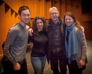John Harbison and members of Camerata Pacifica during recording session January 2014